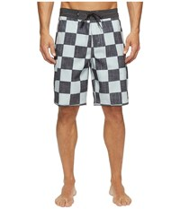 Vans Mixed Scallop Boardshorts Checkerboard Men's Swimwear Black