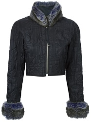 Jean Paul Gaultier Vintage Cropped Quilted Jacket Black
