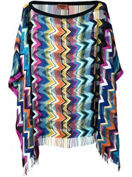 Missoni Zig Zag Knitted Blouse Multicolour