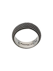 Andrea D'amico Thick Embossed Ring Silver