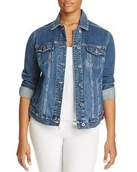 Lucky Brand Plus Trucker Denim Jacket Tanoak