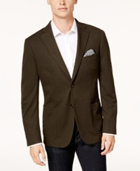 Bar Iii Men's Slim Fit Knit Sport Coat Created For Macy's Olive Green