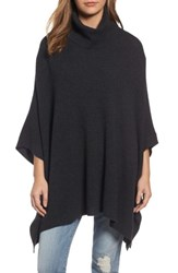Halogenr Women's Halogen Wool And Cashmere Poncho Heather Charcoal