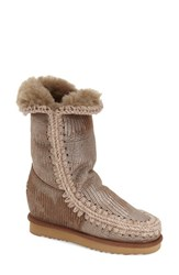 Women's Mou 'Eskimo Tall' Genuine Shearling Boot 3' Heel