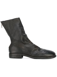 Guidi Back Zip Boots Black