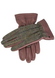 Dents Richmond Leather And Wool Gloves Brown