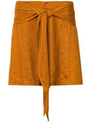 Lilly Sarti Tie Detail Skirt Polyester Spandex Elastane Yellow Orange