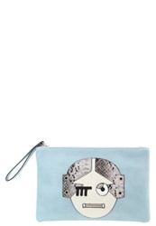 Lydc London Clutch Light Blue Coffee