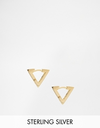 Asos Gold Plated Sterling Silver Triangle Hoop Earrings