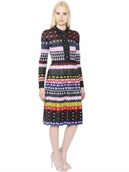 Mary Katrantzou Sparkle Lurex Jacquard Knit Midi Dress
