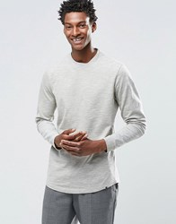 Adpt Crew Neck Long Sleeve Top With Mixed Yarn Detail Dried Herb Tan
