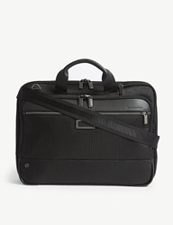 Briggs And Riley Work Slim Nylon Briefcase Black