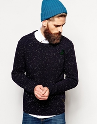 Scotch And Soda Jumper With Fleck Crew Neck Blue