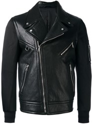 Neil Barrett Bi Material Biker Jacket Black