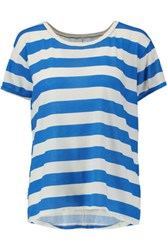 Current Elliott The Carly Striped Cotton T Shirt Azure