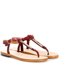 A.P.C. Madison Leather Sandals Red