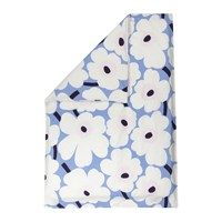 Marimekko Unikko Duvet Cover Sky Blue Off White Plum