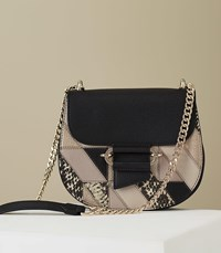 55ec90e0d9e3 Reiss Maltby Patch Leather Cross Body Bag In Multi