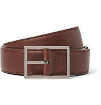 Loro Piana 4Cm Brown Twice Reversible Leather Belt Chocolate