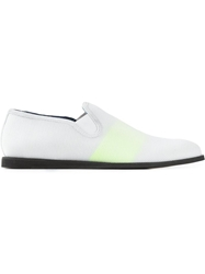 Opening Ceremony Striped Mesh Loafers White