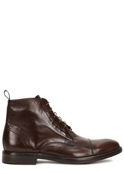 Paul Smith Jarman Chocolate Leather Boots Brown