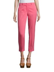 Michael Kors Wool Cropped Pants Flamingo