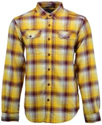 Columbia Men's Minnesota Golden Gophers Long Sleeve Flannel Button Up Shirt Maroon Gold White