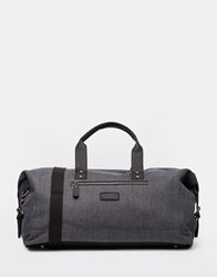 New Look Holdall In Grey Twill