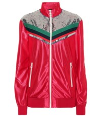 Gucci Sequined Track Jacket Red