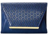 Jessica Mcclintock Perforated Envelope Clutch Navy Clutch Handbags