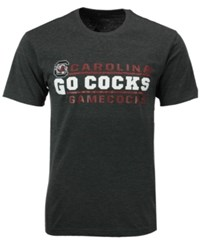 Colosseum Men's South Carolina Gamecocks Verbiage Stack T Shirt Charcoal