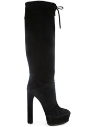 Casadei Platform Knee High Boots Black
