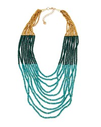 Nakamol Turquoise Hue Multi Strand Beaded Necklace Women's