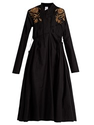Ashish Embroidered Cotton Dress Black