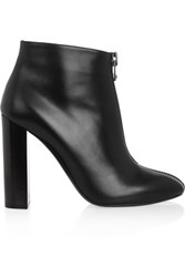 Tom Ford Zipped Leather Ankle Boots Black