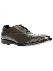 Alexander Mcqueen Toe Cap Detail Oxford Shoe Grey