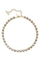 Kate Spade Women's New York 'Fancy That' Small Stone Necklace Gold Patina