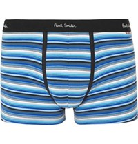 Paul Smith Striped Stretch Cotton Boxer Briefs Navy