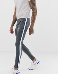 Gym King Tapered Poly Tracksuit Joggers Grey