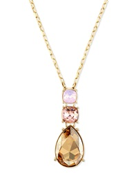 Multi Tonal Crystal Pendant Necklace St. John Collection
