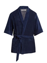 Hecho French Terry Towelling Jacket Navy