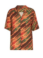 Missoni Tie Dye Print Shirt Orange
