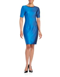 T Tahari Short Sleeved Sheath Dress Bora Bora
