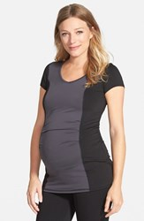 Women's Maternal America Colorblock Maternity Top