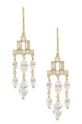 Nordstrom Rack Art Deco Cz Chandelier Earrings Metallic