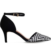 Miss Kg Brooke Woven Court Shoes Blk White