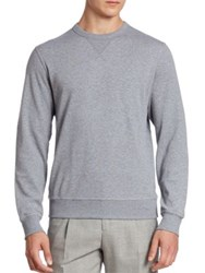 Brunello Cucinelli Felpa Crewneck Athletic Sweatshirt Grey