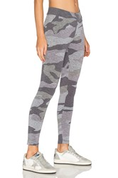 Monrow Oversized Camo Legging Gray