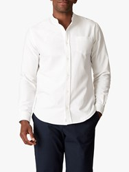 Jaeger Collarless Cotton Shirt White