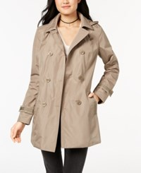 Celebrity Pink Juniors' Hooded Double Breasted Trench Coat Mushroom